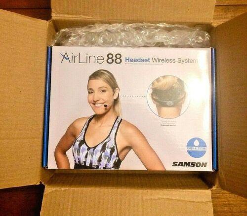 Samson Airline 88 Wireless Fitness Headset Wireless System —Open Box, MINT