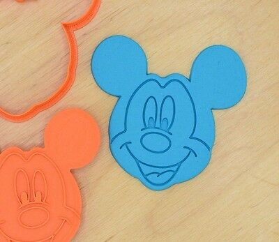 Mickey Mouse Cookie Cutter and Stamp Set - 3d printed plastic - Mickey Mouse Cookie Cutter Set