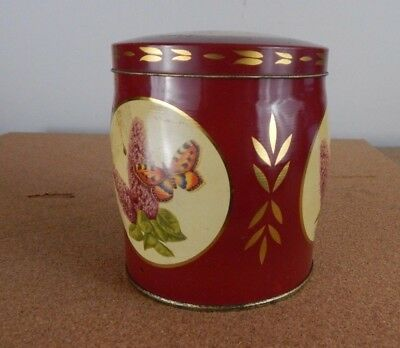 Vintage Brookes Beatie Chocolate Fingers tin Butterfly design 9cm x10cm