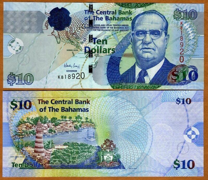 Bahamas, 10 dollars, 2009, P-73A, UNC