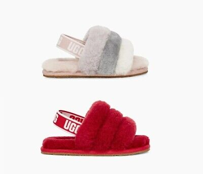 {1098579T} Toddlers UGG FLUFF YEAH SLIDE *NEW*