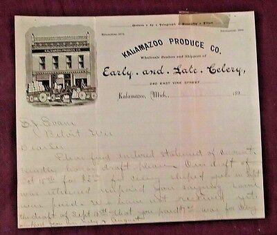 1901 Bill Head Receipt Kalamazoo Celery Produce Michigan to E.J. Evans Beloit WI