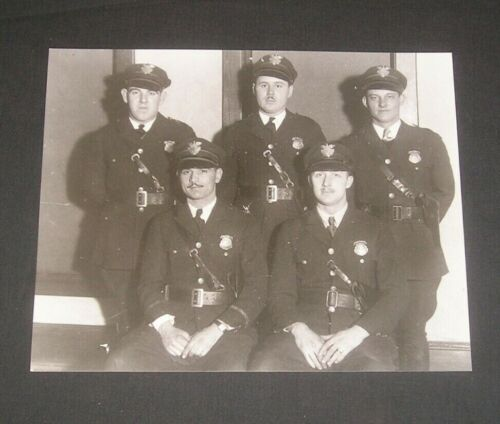 Rocky River Ohio Police Officers, 1940s Photograph, Vintage Law Enforcement