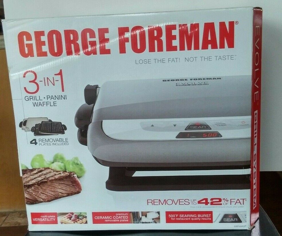George Foreman 3 in 1 Grill-Panini-Waffle Maker GRP4842P