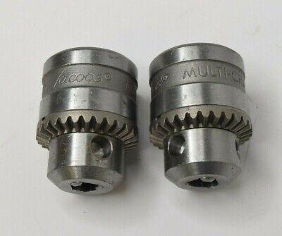 2x Jacobs Multi-craft 14 6.5mm Drill Chuck 38-24 Threads Sm1g61 - Missing Key