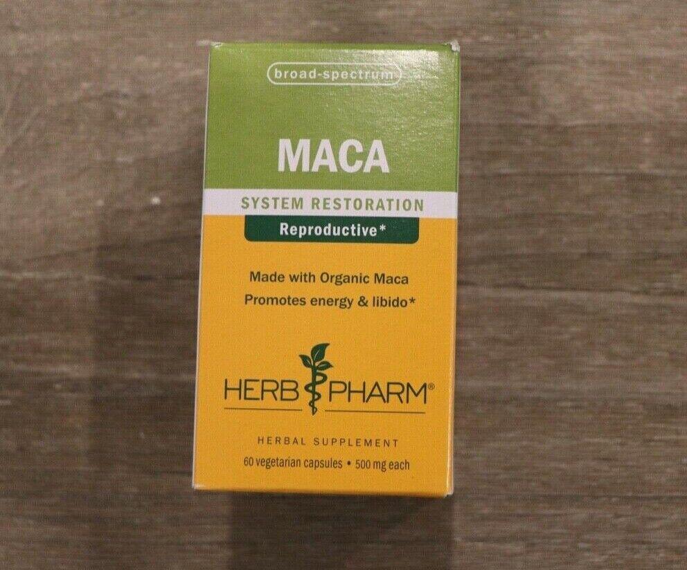 Herb Pharm Maca 500 mg 60 Veggie Caps Gluten-Free, Organic