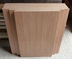13 Piece Bundle of New 18mm Premium Quality Medium Oak Veneer MDF
