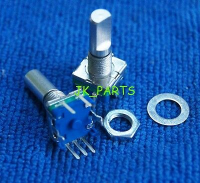 5pcs Rotary Encoder Switch Ec11 Audio Digital Potentiometer 20mm Half Shaft