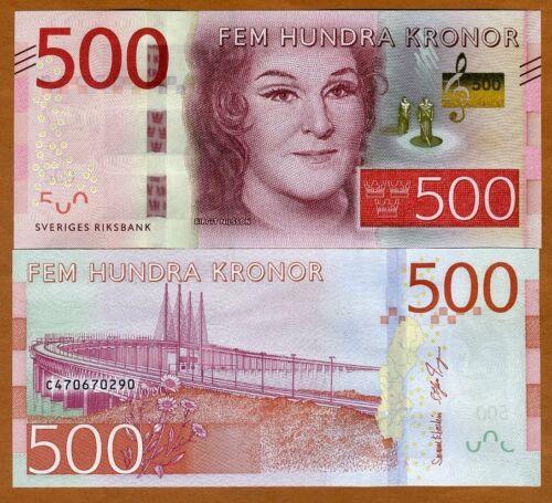 Sweden, 500 Kronor, 2016, P-73, Redesigned UNC > Birgit Nilsson