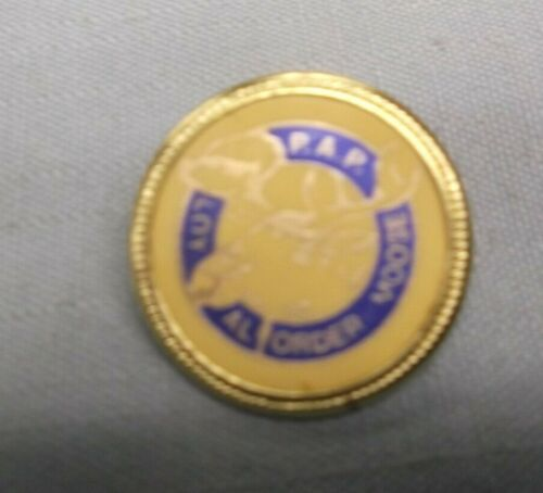lapel pin mylar insert P.A.P. moose  logo