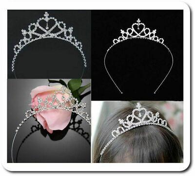 Tiara Diadem Prinzessin Krone Haarreif Hochzeit Kommunion Mädchen Kinder Strass