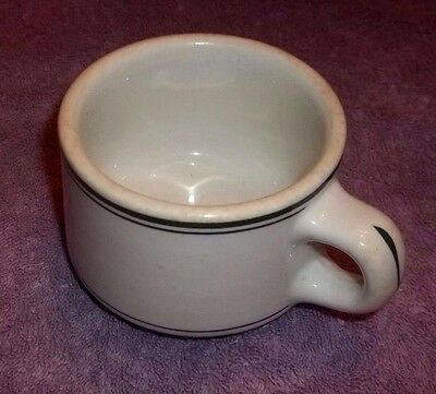 Vintage Sterling China Green Stripe Restaurant Ware Coffee Cup Mug L