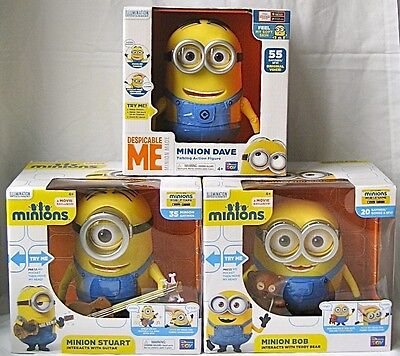 Despicable Me Minion Bob Stuart Dave Interactive Talking THINKWAY TOYS doll 3 2