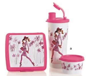 Tupperware 3-Pc Girl on the Go Lunch Set BRAND NEW