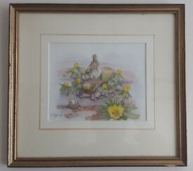 Geraldine Siggs - Signed Mid 20th Century Watercolour picture painting framed