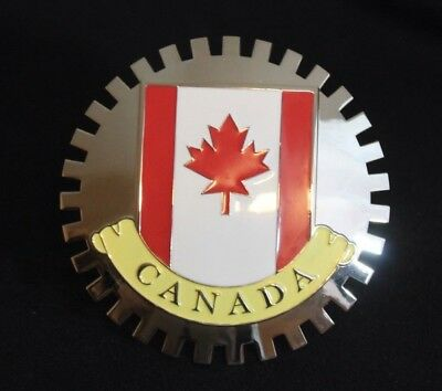 Somerset Maple Collection - Canada Flag Canadian Grille Badge License Plate Topper Accessory Maple Leaf Flag