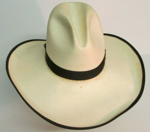 RESISTOL GUS OPEN RANGE Texas Cowboy Hat Size 7 1/4 STRAW SASS MOVIE PROP HOUSE