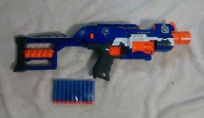 Hasbro 2011 NERF N-Strike Elite Stockade Blaster Motorized Automatic Dart Gun