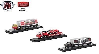 New M2 Machines Coca-Cola Auto Haulers 1:64 Release RC01 Diecast Trucks