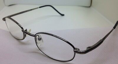 Cody Eye Q Rx Eyeglasses Georgetown 44/18/130 Gunmetal Oval Thin Men's Frames