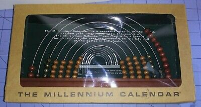 The Millennium Calendar Wonder Products Display Nib Wood Bead -month Day Year