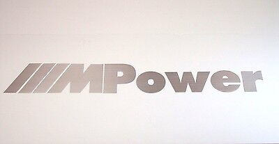 BMW MPower Beautiful Brushed Aluminum 4 Foot Garage Sign Home or Office