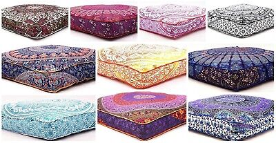 Large Size Mandala Floor Cushion Throw Square Pillow Cover,Pet Bed Cover Decor ()