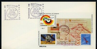Bolivia SPACE FDC Selections: MICHEL BLOCK #104 Lunar Module APOLLO XI $$$
