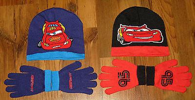 Disney Pixar Cars Mütze - Handschuh Set schwarz rot und blau Lightning McQueen