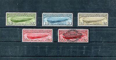US Zeppelin Post 1935 + 1936 overprint cinderella full set gum Great spacefiller