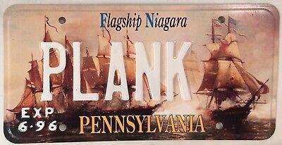 PA FLAGSHIP NIAGARA vanity PLANK license plate Pirate wood boat timber ship sail