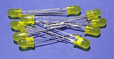5 Volt Yellow LED 5mm (no resistors needed) .....Lot of 10
