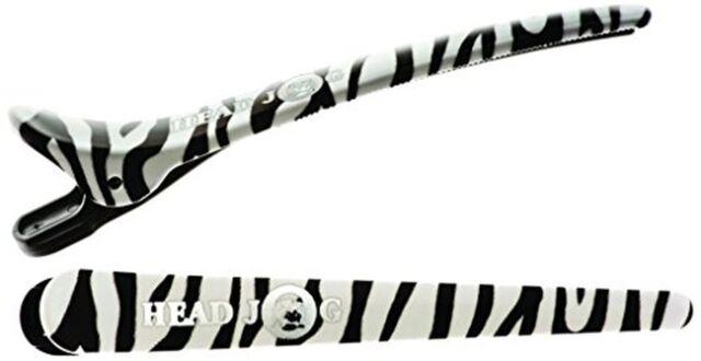Head Jog Klipitz Zebra Plastic Hairdressing Hair Clips/Clamps x6 SAMEDAY DISPATC