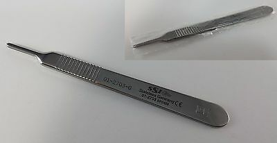 Surgical Scalpel Knife Handle 3 Stainless Germany Ce 01-2703 Graduated Symmetry