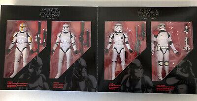 Star Wars Black Series Trooper 4 Pack Amazon Exclusive Hasbro 6 Inch Figures New