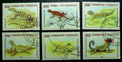 Tajikistan 69 - 74 1995 Lizards complete set Reptiles