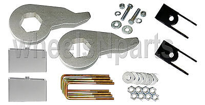 "Lift Kit For Chevy 1999-06 1500 4x4 Forged Torsion Keys 2"" Alum Blocks Shock Ext"