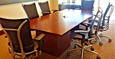 Excellent Condition Complete Conference Room Tables Credenzas Seating
