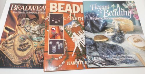 3 Books BEADING BEADWEAVING Jewelry Making Bead Card Stitching