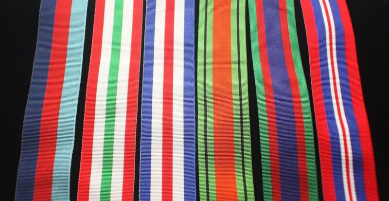 """WW2 Canadian Italy Medal Set, FS (32mm) Replacement Ribbon, 8"""" for Court Mount"""