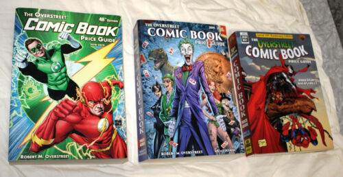 3  Overstreet Comic Book Price Guides: 48th, 49th, & 50th. Great condition.