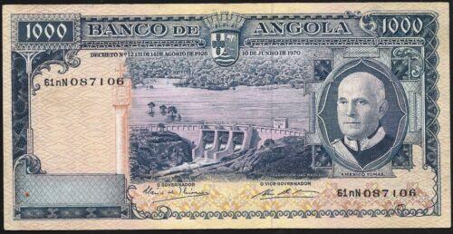 Angola 1970 1000 Escudos Banco de Angola  AU Pk-98