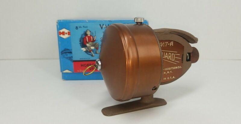 MINT Vintage Horrocks Ibbotson 1917 Model A Vanguard Spincast Reel W/ Box