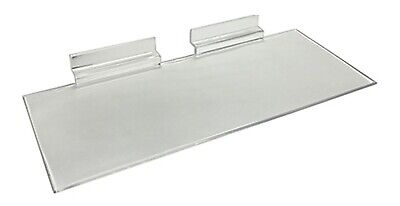 Slatwall Shelf 4 Deep X 10 Long Crystal Clear Injection Molded Lot Of 10