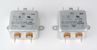 1VB1 Pack of 2 Power Line Filters 1A 1//4 FASTON FLANGE MOUNT,