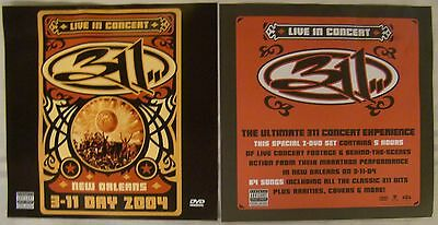 311 Live In Concert New Orleans 2004 Poster 2 Sided 12  X 12  Promo Flyer Dvd