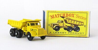 Vintage Lesney Matchbox 6 Euclid Quarry Truck Regular Wheel NEAR MINT N BOX 1964
