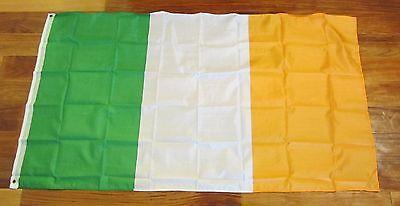 1 IRELAND FLAG 3'X5' EIRE ERIN IRISH PRIDE BANNER REPUBLIC OF IRELAND 3 BY 5