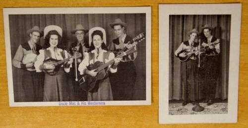 UNCLE MAC & HIS WESTERNERS 2 Advertising Cards Phillip & Al McGuire Maine