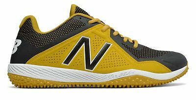 New Balance Low-Cut 4040V4 Turf Baseball Cleat Mens Shoes Yellow With Black ()